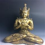 【收藏级】----清早期铜鎏金释迦牟尼佛